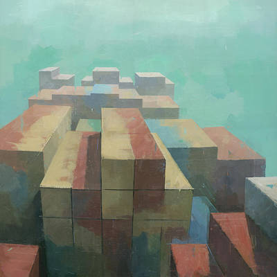 Painting - The Four Corners by Steve Mitchell
