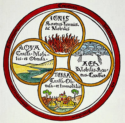 Lucretius Photograph - The Four Elements, 1472 by Granger