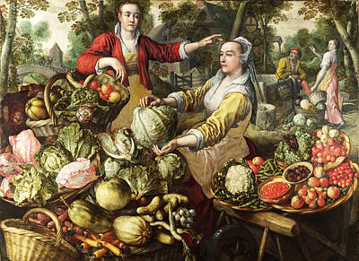 Earth Elements Painting - The Four Elements. Earth by Joachim Beuckelaer