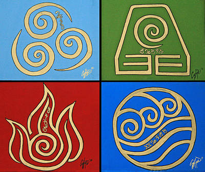 The Four Elements In Cy Lantyca Art Print by Cyryn Fyrcyd