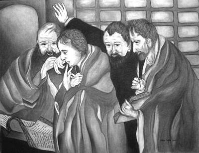 Painting - The Four Evangelists by Alma Bella Solis