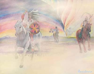 The Four Horsemen Approaching Art Print