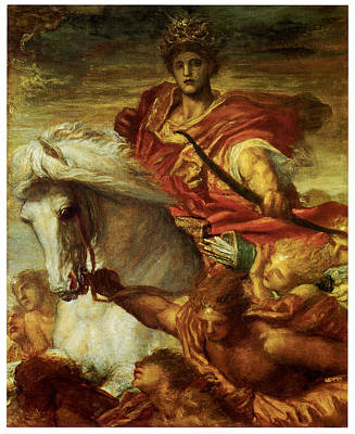 Four Horsemen Painting - The Four Horsemen Of The Apocalypse by George Frederick Watts