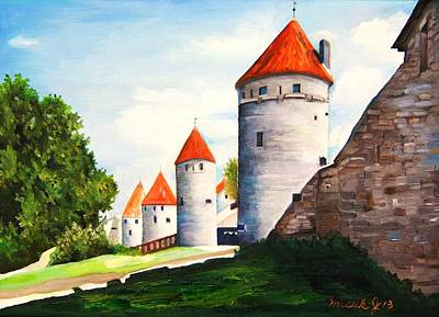 Photograph - The Four Old Towers Estonia by Misuk Jenkins