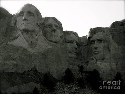 Photograph - The Four Presidents by KD Johnson