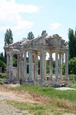 The Four Roman Columns Of The Ceremonial Gateway  Art Print by Tracey Harrington-Simpson