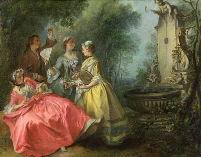 The Four Times Of Day. Midday Art Print by Nicolas Lancret