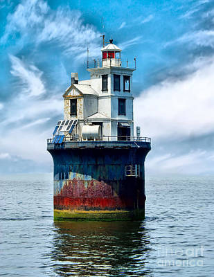 Food And Flowers Still Life Rights Managed Images - The Fourteen Foot Bank Lighthouse Royalty-Free Image by Nick Zelinsky Jr