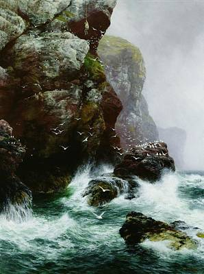 Mist Painting - The Fowlers Crag by Peter Graham