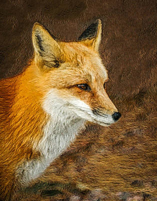Digital Art - The Fox 5 by Ernie Echols