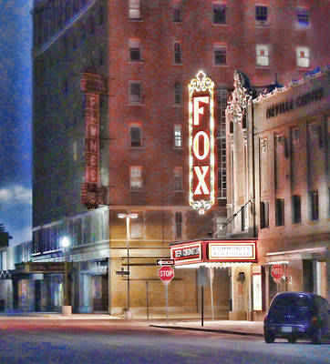 The Fox After The Show Art Print