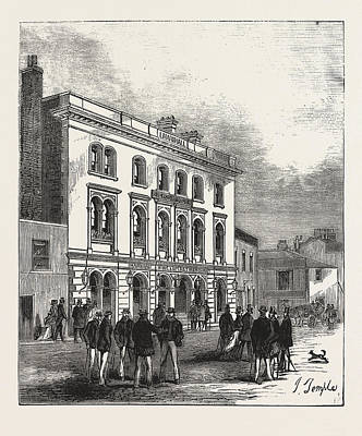 Row Boat Drawing - The Fox And Hounds, Putney, Oxford Head-quarters by English School