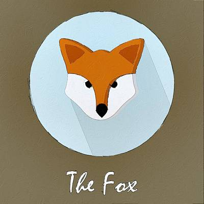 Painting - The Fox Cute Portrait by Florian Rodarte