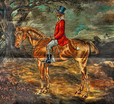 Photograph - The Fox Hunt With Light Antique Store Mural Griffin Georgia Art by Reid Callaway