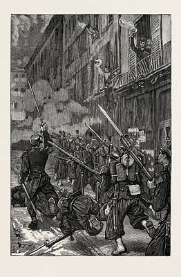 Ligne Drawing - The Franco-prussian War In Paris During The Fighting Vive by French School