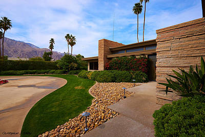 Sinatra House Photograph - The Frank Sinatra House Twin Palms  By Architect E. Stewart Williams Palm Springs California by Christopher S Nibley