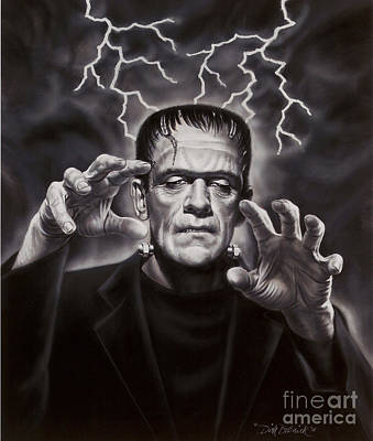 The Frankenstein Monster Art Print by Dick Bobnick