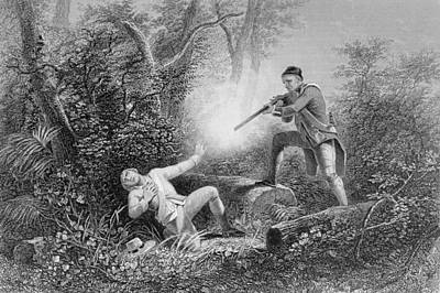 Us Patriot Drawing - The Fratricide At Wyoming by James Charles Armytage