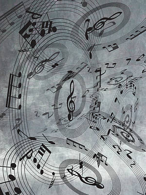 Mixed Media - The Freedom Of Music 1 by Angelina Vick