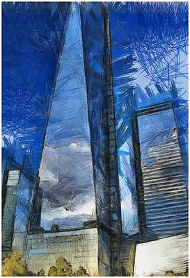 World Trade Center Painting - The Freedom Tower by Dan Sproul
