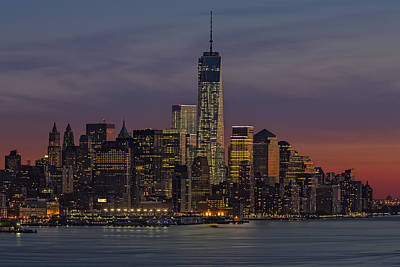 Skylines Royalty-Free and Rights-Managed Images - The Freedom Tower Dominates The Skyline by Susan Candelario