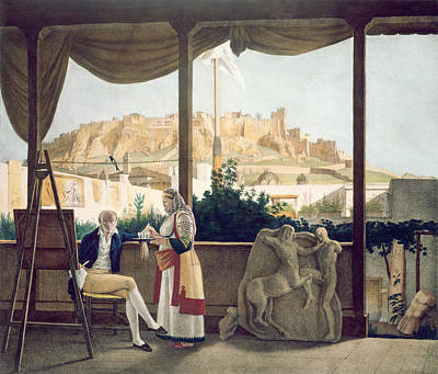 Acropolis Drawing - The French Consul, Monsieur Fauvel by Louis Dupre