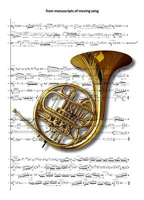 Digital Art - The French Horn by Ron Davidson