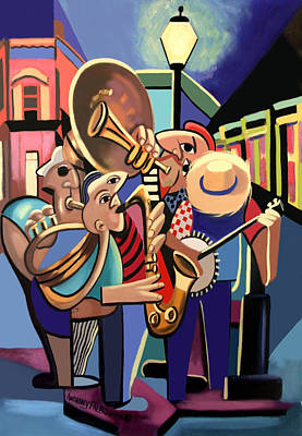 New Orleans Jazz Painting - The French Quarter by Anthony Falbo