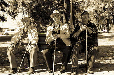 Old Grandfather Time Photograph - The Frends. by Slavica Koceva