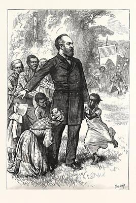The Friend Of The Freedmen, General Garfield, Engraving Art Print by American School