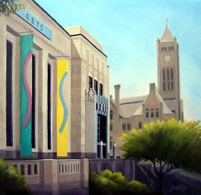 Downtown Nashville Painting - The Frist Center by Janet King
