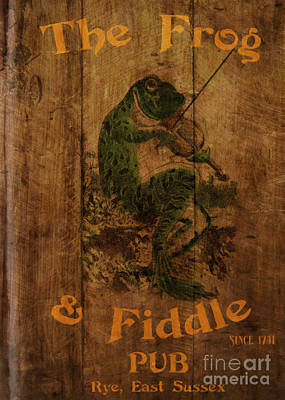 The Frog And Fiddle Pub Art Print