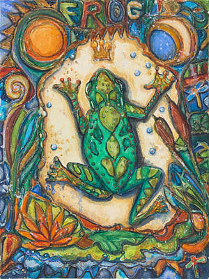 Frogs Mixed Media - The Frog Prince   Children Of The Earth Series by Patricia Allingham Carlson