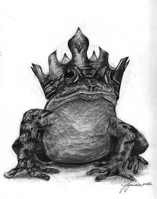 Drawing - The Frog Prince by J Ferwerda