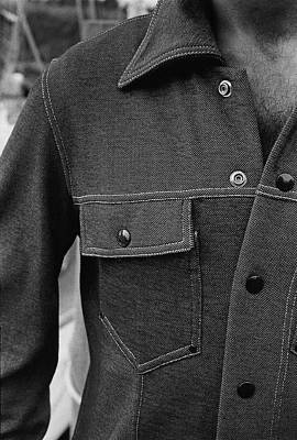 Button Down Shirt Photograph - The Front Of A Denim Jacket by Mark Patiky