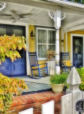 Photograph - The Front Porch 2 by Jean Goodwin Brooks