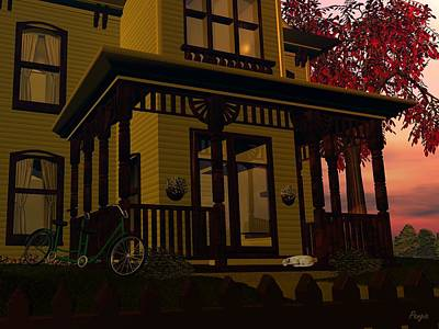 Victorian Digital Art - The Front Porch by John Pangia