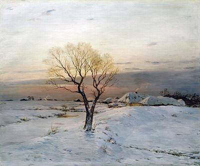 The Frosty Morning Art Print by Nikolay Dubovskoy'