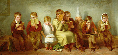 Dunce Caps Photograph - The Frown, 1842 Oil On Panel Pair Of 6131 by Thomas Webster