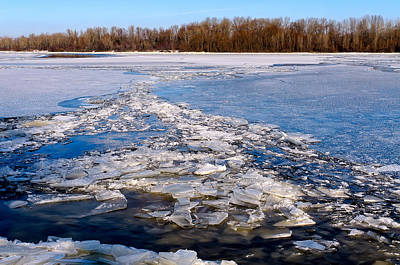 Thawing Time Photograph - The Frozen Dnieper River by Alain De Maximy
