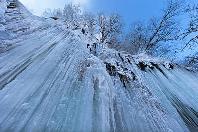 The Frozen Schleierfaelle (veil Falls Art Print by Martin Zwick