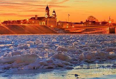 Photograph - The Frozen Susquehanna by Adam Jewell