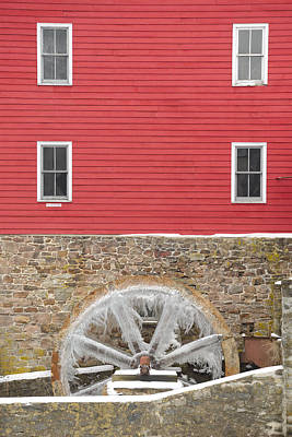 Photograph - The Frozen Wheel by Mark Robert Rogers