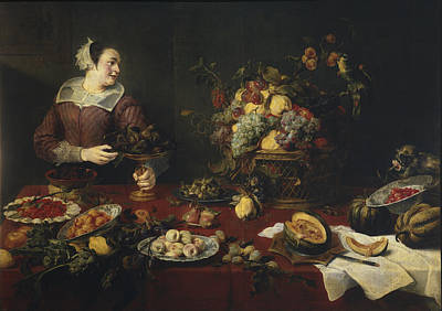 Frans Snyders Painting - The Fruit Basket by Frans Snyders