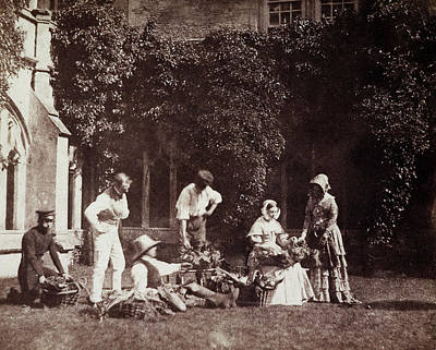Group Portraits Photograph - The Fruit Sellers by British Library