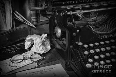The Frustrated Writer Art Print by Paul Ward