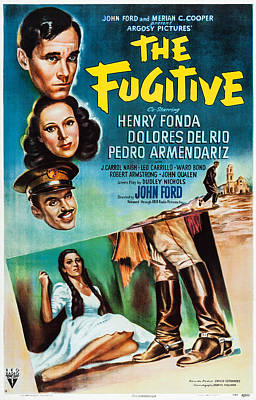 Del Rio Photograph - The Fugitive, Us Poster Art, From Top by Everett
