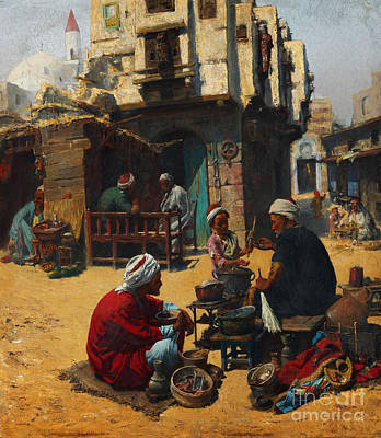 God Painting - The Fuel Seller by Celestial Images