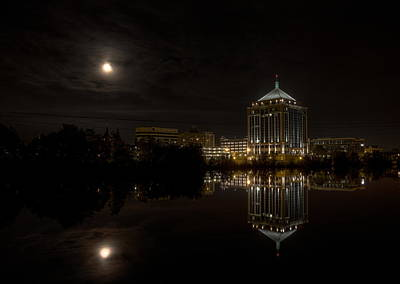 Photograph - The Full Moon Over The Dudley Tower by Dale Kauzlaric