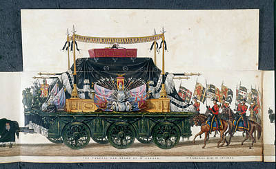 Funeral Procession Photograph - The Funeral Car by British Library
